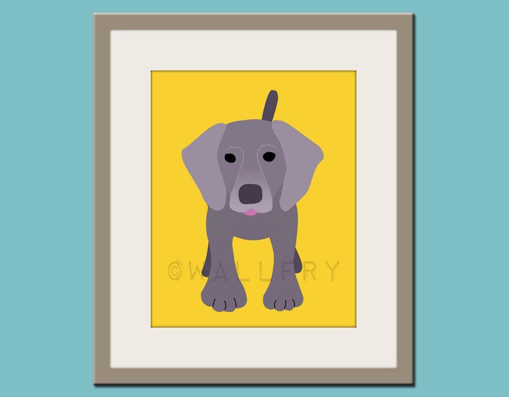 Baby nursery art print. Wall art for children, kid\'s wall art. Puppy ...