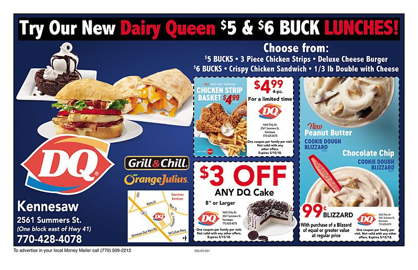 graphic about Printable Dairy Queen Coupons titled Dairy+Queen-Kennesaw 00 coupon codes Cafe discount codes