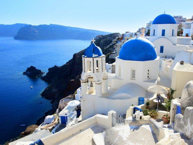 Santorini HD Wallpaper 1080p