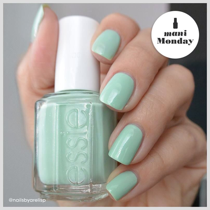 Esmalte uñas verde aqua | Esmaltes de uñas essie | Pinterest
