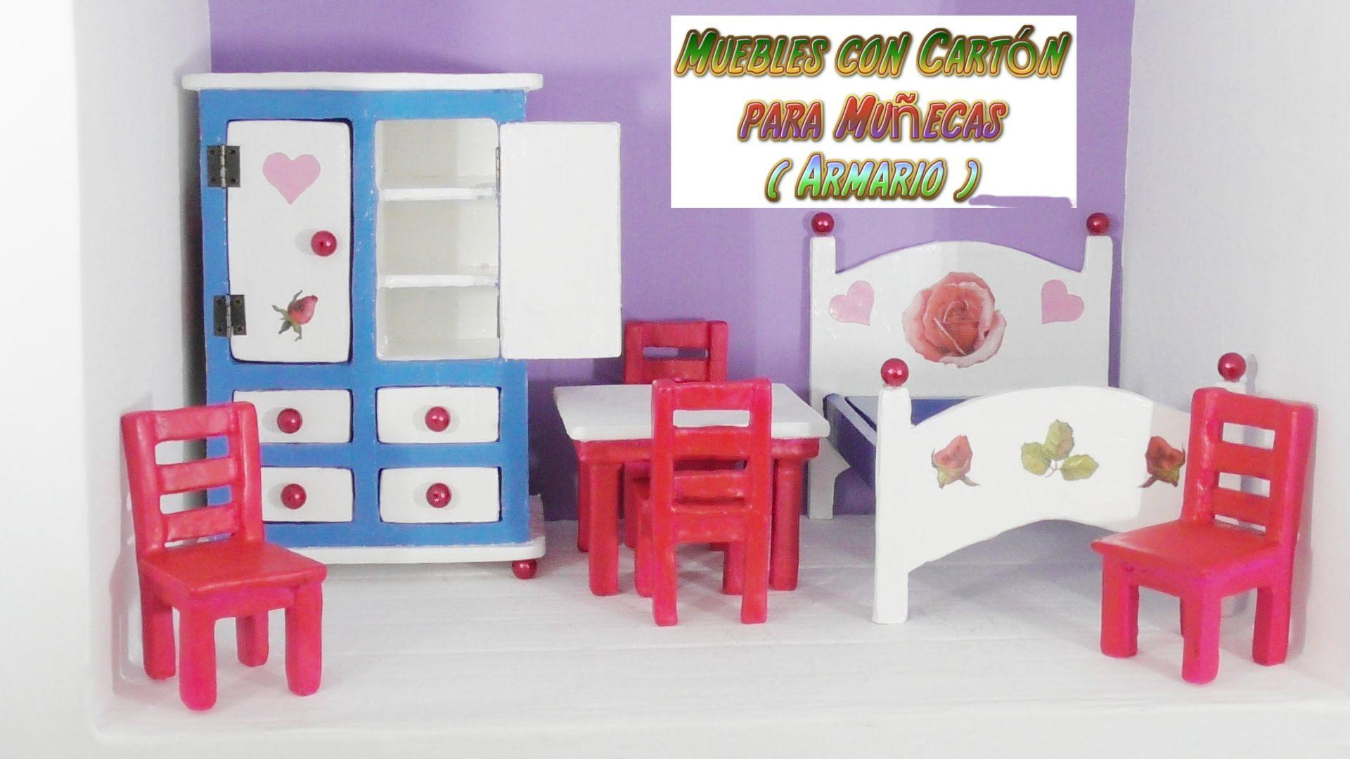 Muebles de Cartón para casas de Muñecas, tutorial Armario ropero ...