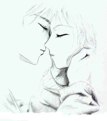 Anime Kiss Sketch - Buscar Con Google | Drawings...are The Law!! So Deal With It! | Pinterest ...