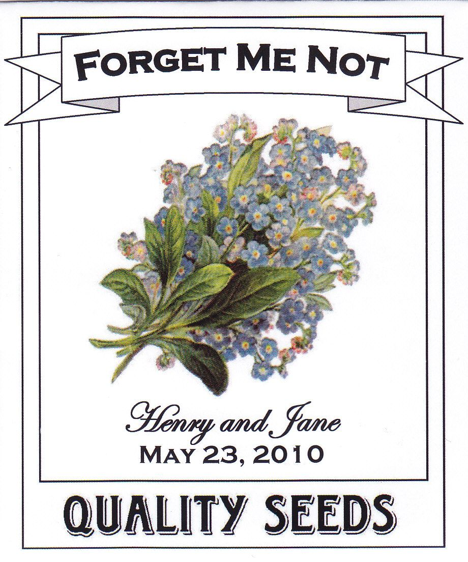 Forget Me Not Wedding Seed Packet | Wedding | Pinterest | Seed ...
