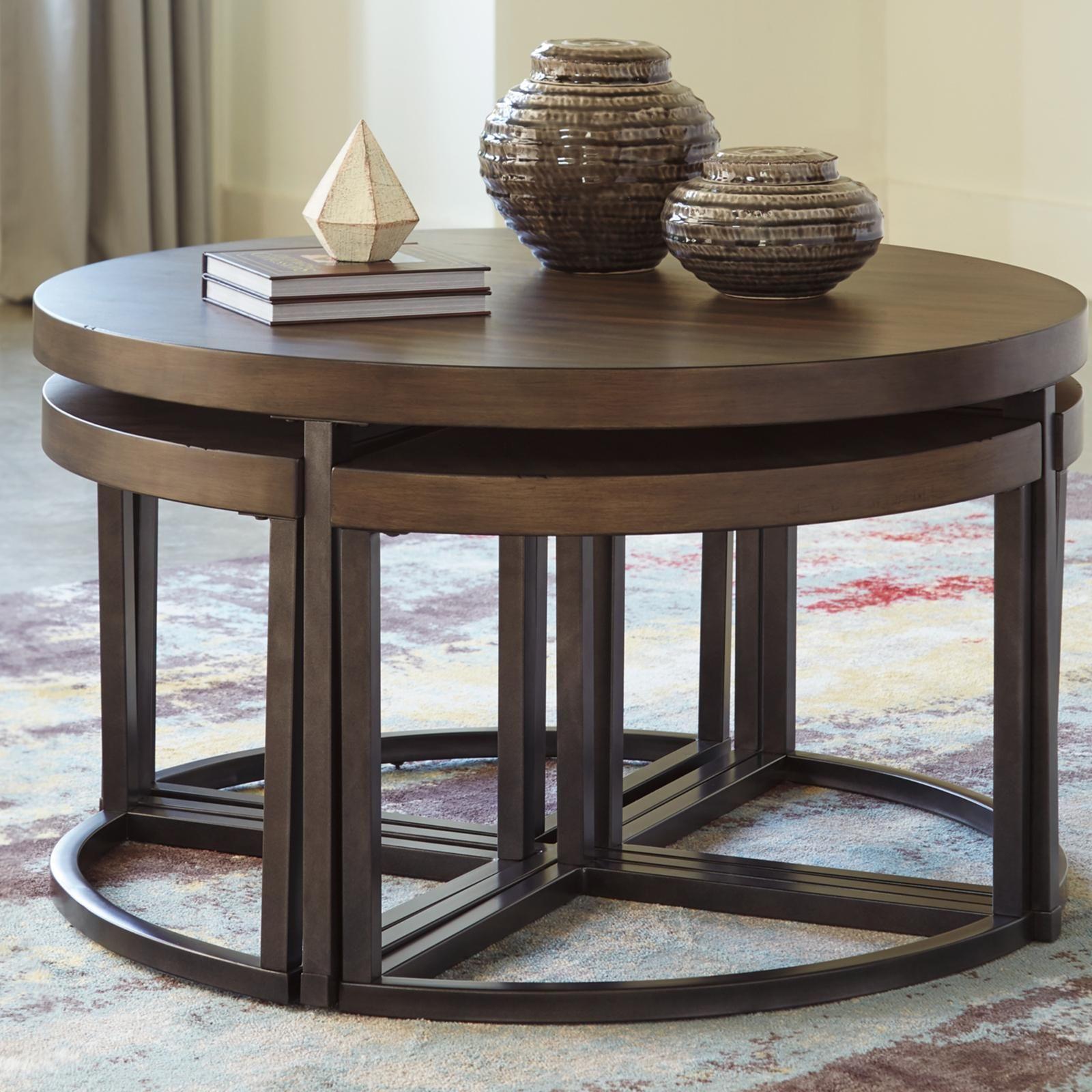 Ashley Furniture Johurst 5 Piece Table Set Coffee Table Coffee Table Square Coffee Table With Stools [ 1600 x 1600 Pixel ]