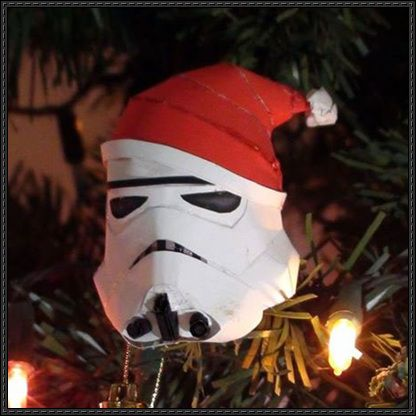 stormtrooper helmet with santa hat free papercraft download http www papercraftsquare com stormtrooper helmet santa hat free papercraft download html