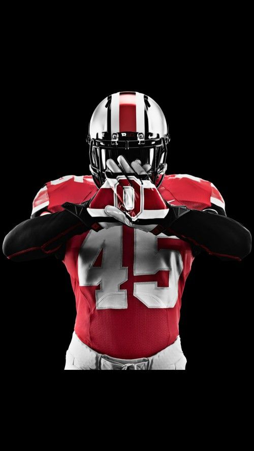 Ohio State Football Wallpaper In Black Background For Iphone 6s Ohio State Buckeyes Football Ohio State Football Ohio State