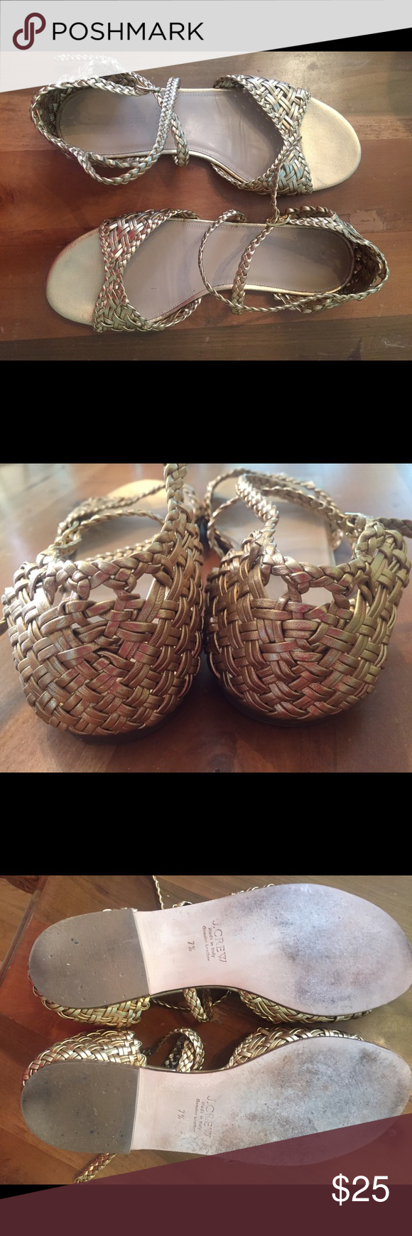 J.Crew gold sandals Very cute, EUC, wore once, 7.5 J. Crew Shoes Sandals