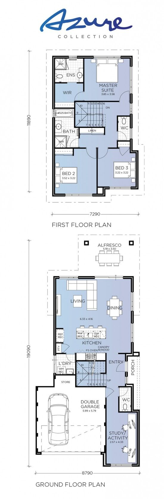 Valencia Azure Collection Switch Homes Narrow Lot House Plans House Floor Plans House Plans
