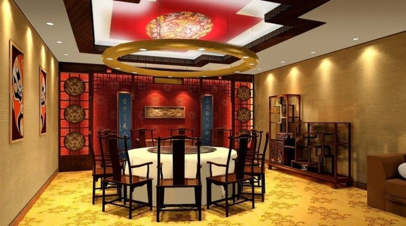 Traditional Restaurant Interior Design Beautiful And Modern Chinese