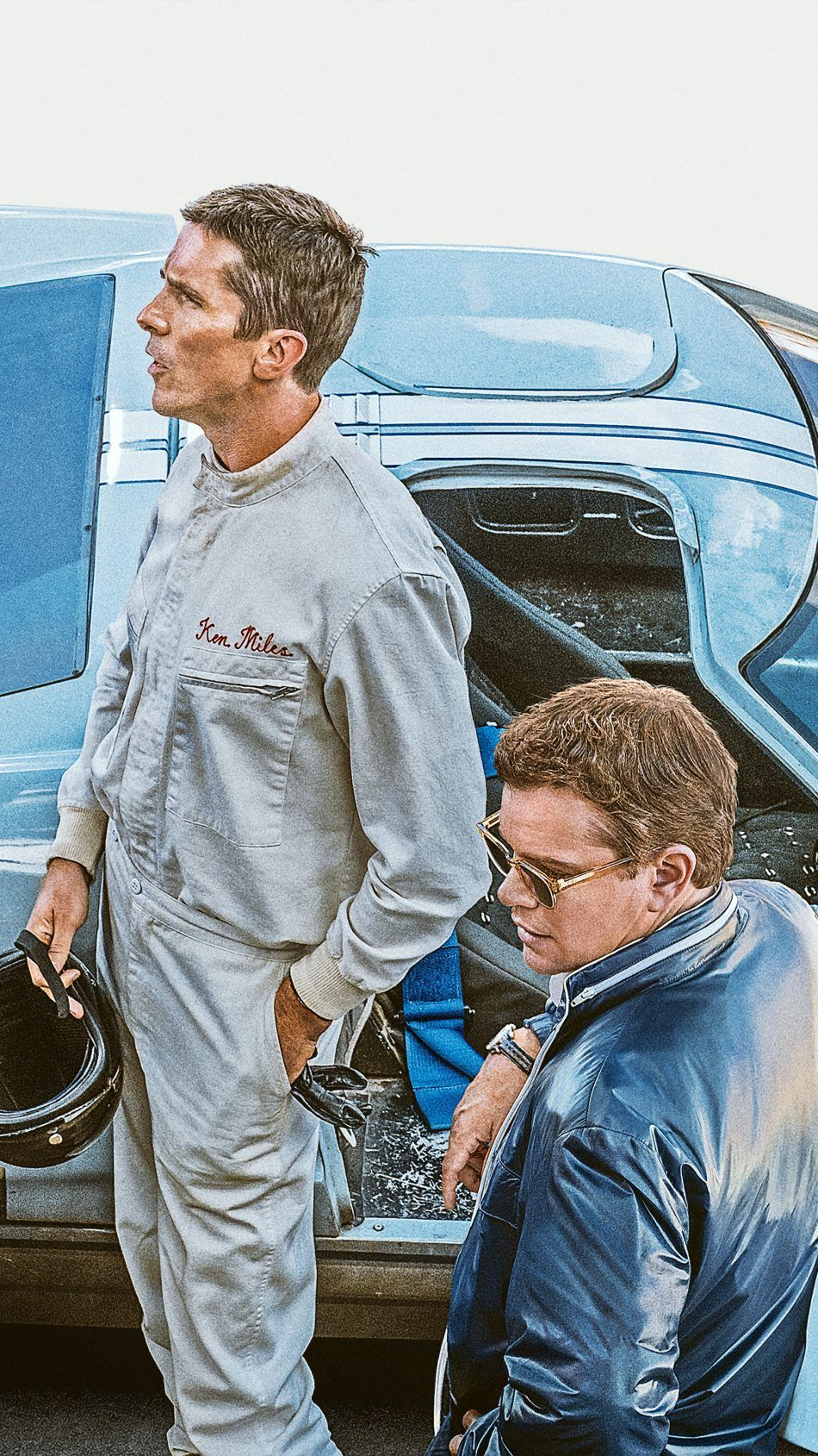 Christian Bale Matt Damon In Ford V Ferrari 2019 Free 4k Ultra