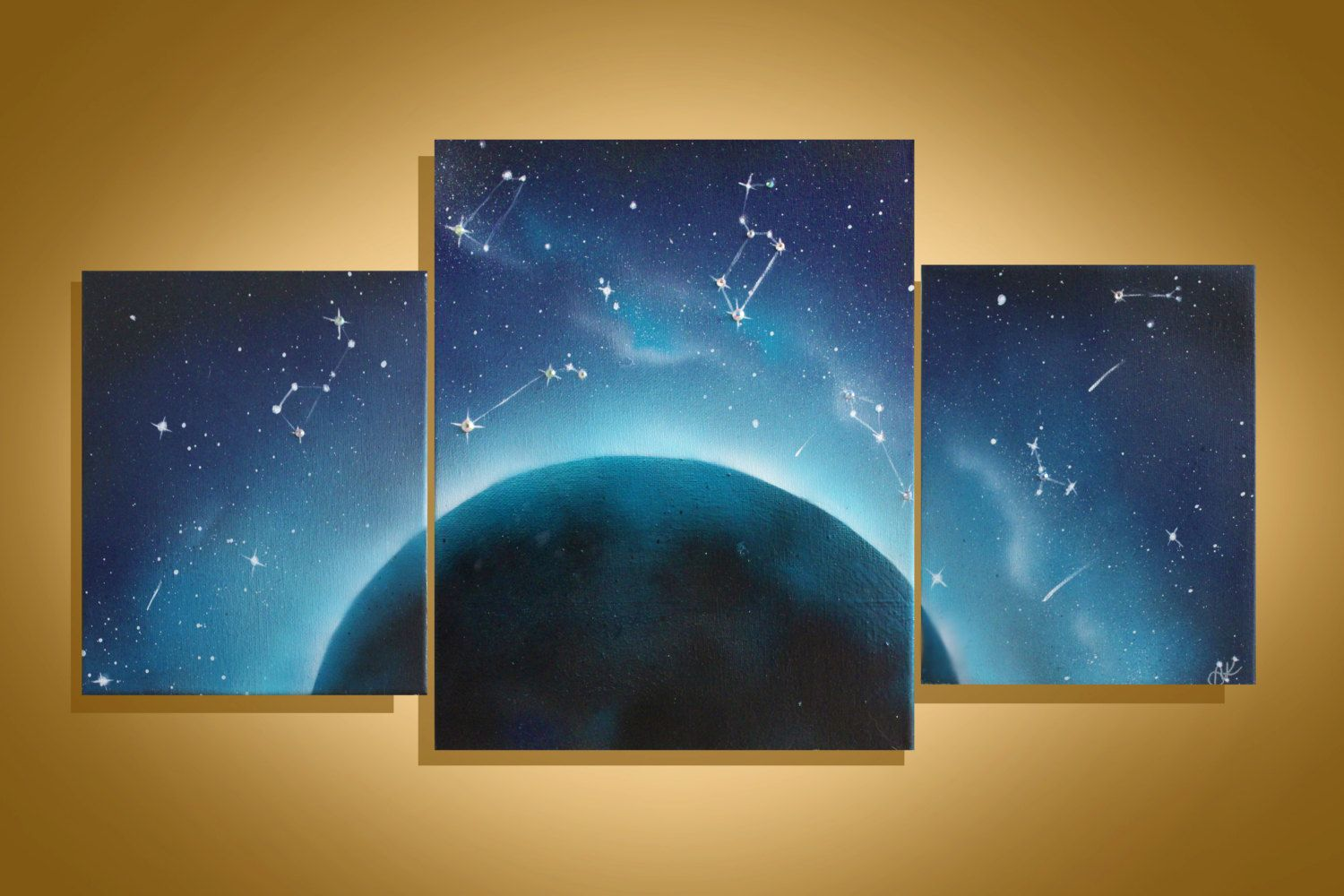 space art wall art space painting paintings on. Black Bedroom Furniture Sets. Home Design Ideas