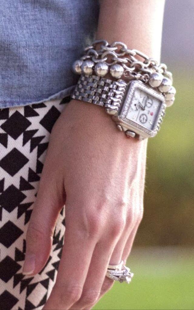 michele watch with tiffany bracelets