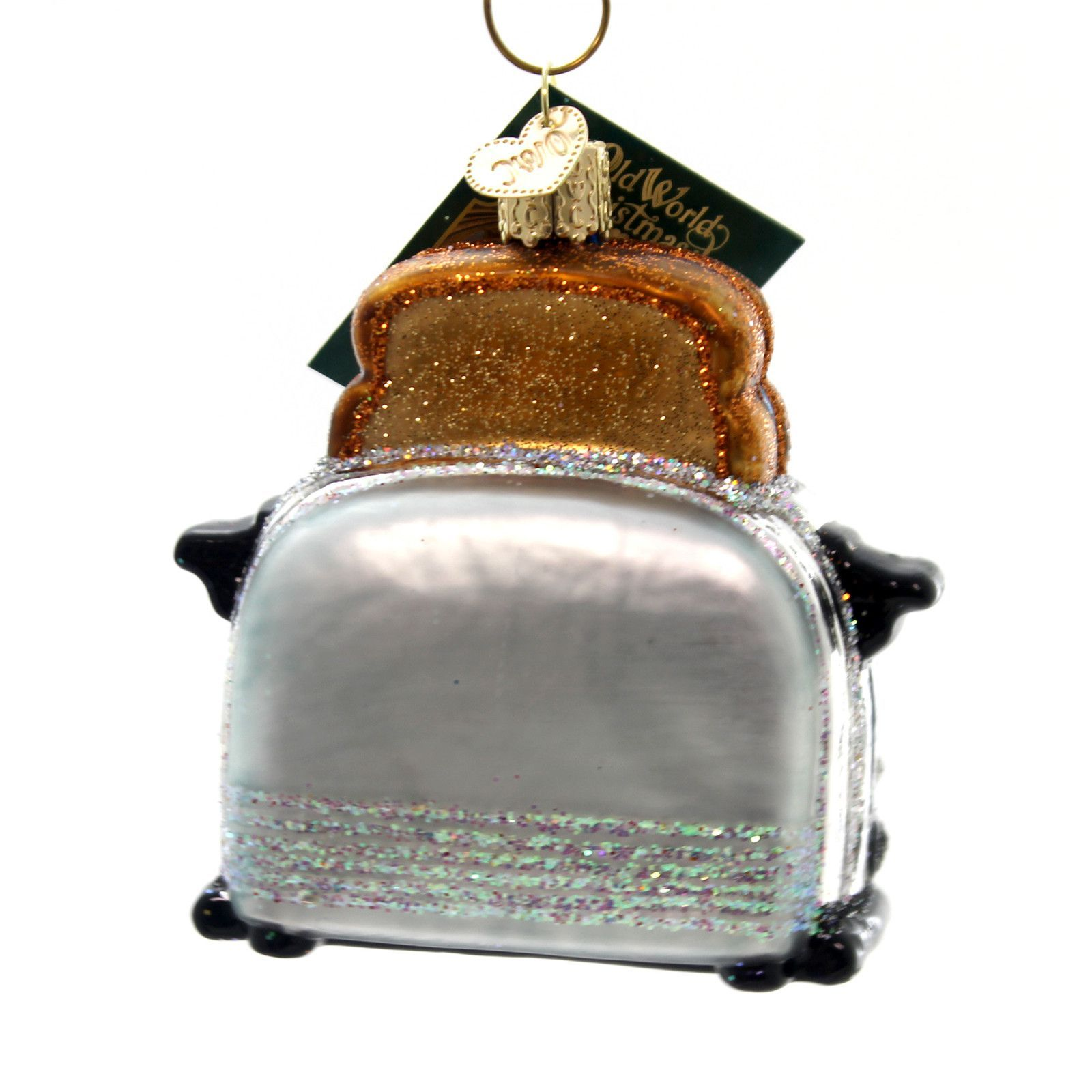 Old World Christmas RETRO TOASTER Glass Toasted Bread Jelly 32234 ...