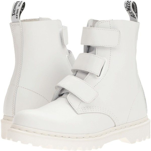 b47cf769bf34f Dr. Martens Coralia (White Venice) Women s Boots (270 BRL) ❤ liked ...