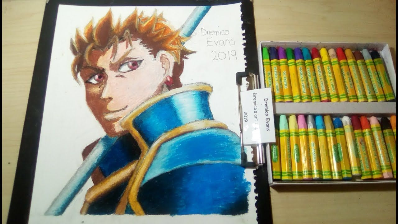 Art Reviews Crayola Oil Pastels 28 Blue Armor Character Drawing