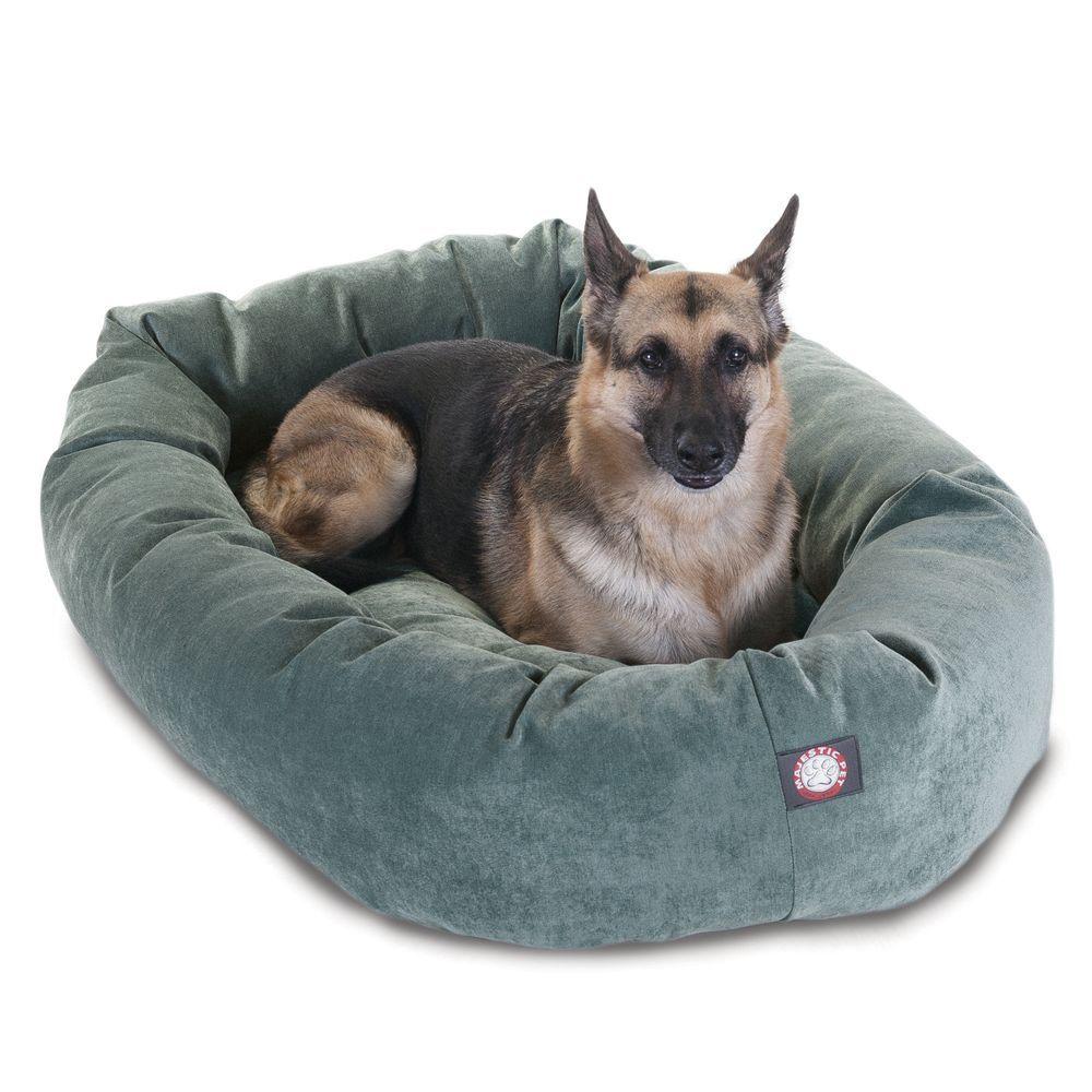 """Majestic Pet Villa MicroVelvet Bagel Pet Bed size 52""""L x"""