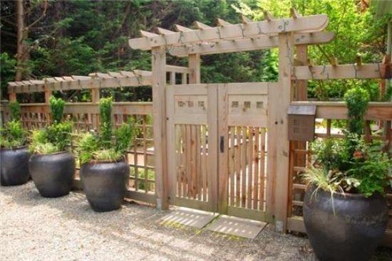 holzsichtschutz garten – stockyard, Gartenarbeit ideen