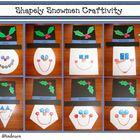 Shapely Snowmen Craftivity