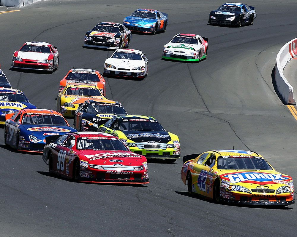 Kyle Larson Turns Right On Victory Lane In Sonoma NASCAR KN Pro ...