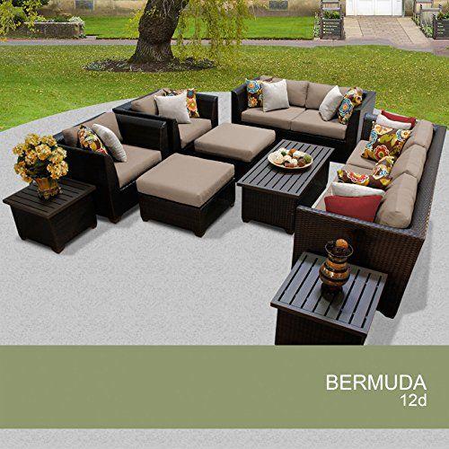 bermuda 12 piece outdoor wicker patio furniture set 12d click
