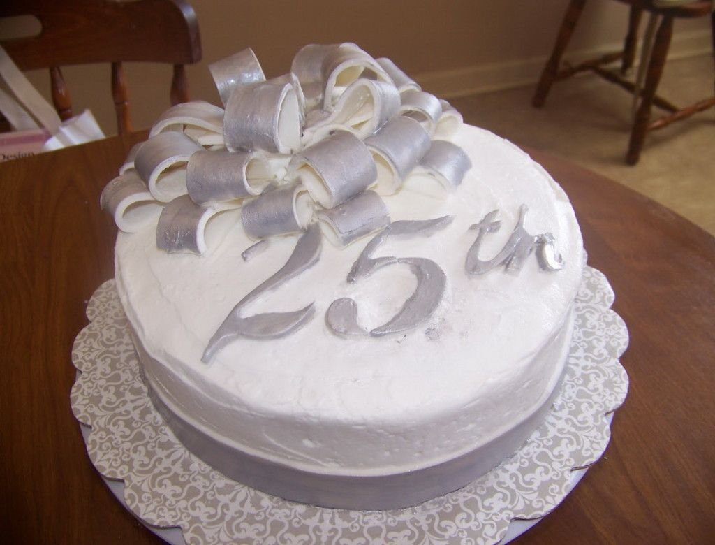 25th Anniversary Cake Decorating Silver 25th Anniversary