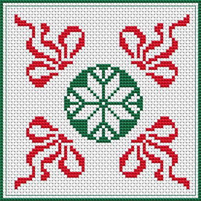 Christmas Biscornu free cross stitch pattern   Christmas treasures ...