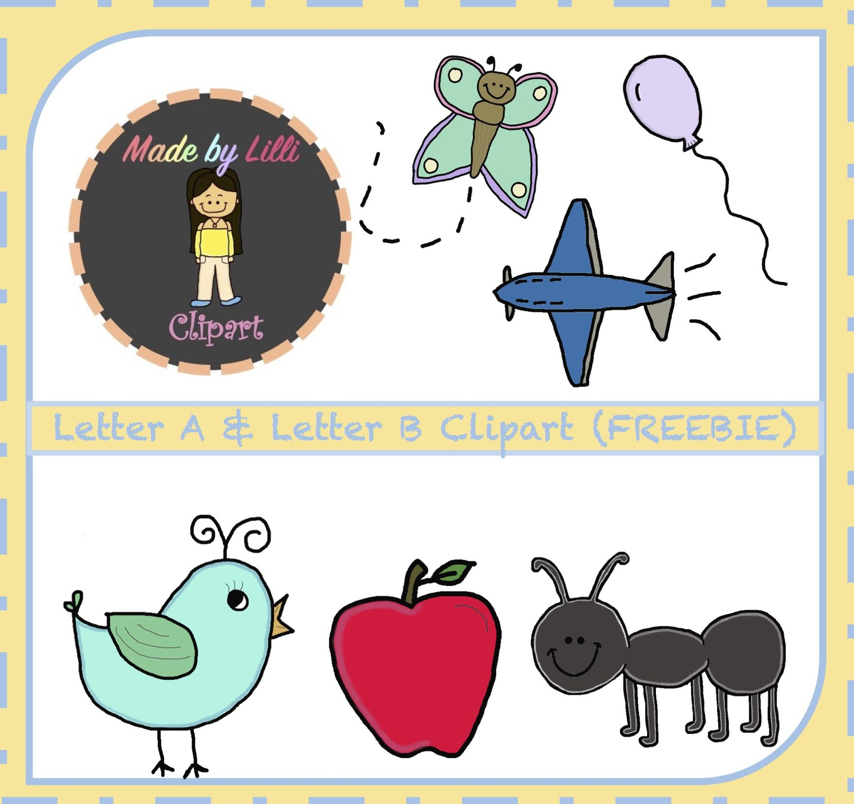 I am offering this Alphabet Letter A & Letter B clipart which has 3