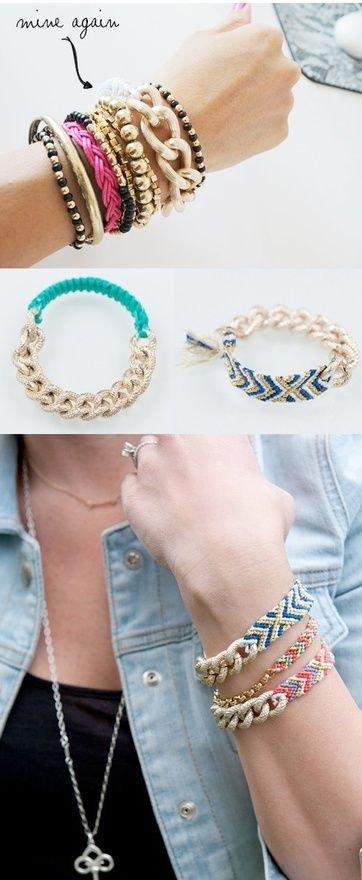 Armband Aus Jeans Selber Machen , Great Use For Broken Chains 3 Diy Diy Diy