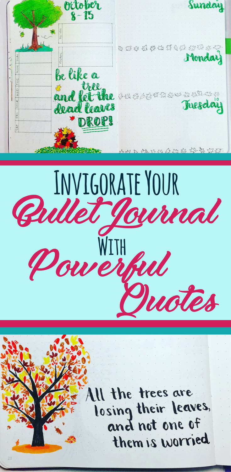 Quotes Journal Empowering Quotes For Your Bullet Journal  Bullet Productivity