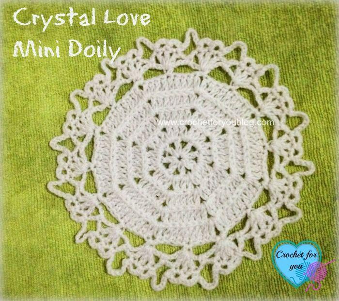 Crystal Love Mini Doily Free Pattern Crochet Doilies Pinterest