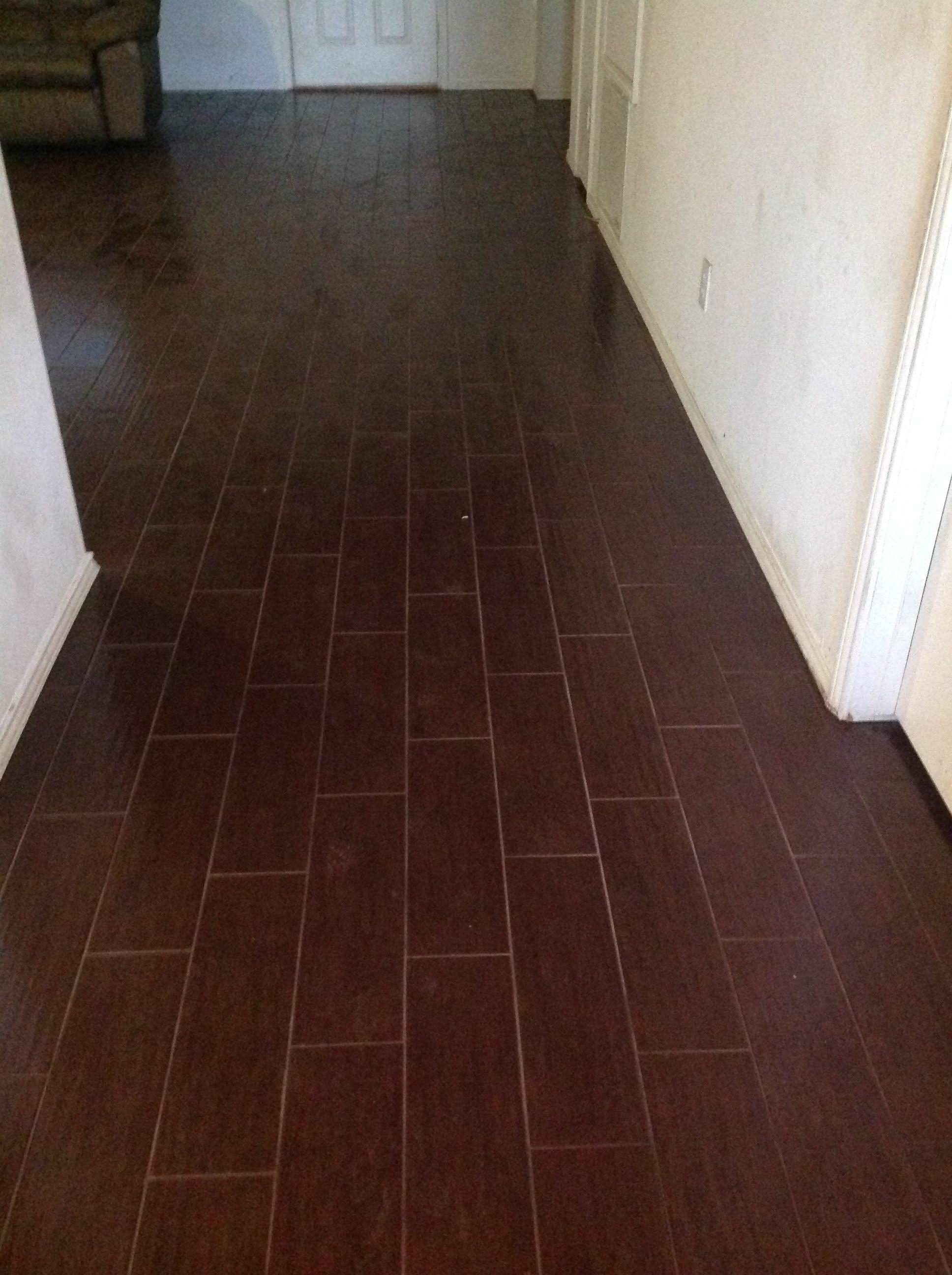 Our Tile Choice Interceramic \'wood-looking\' tile flooring in hallway ...