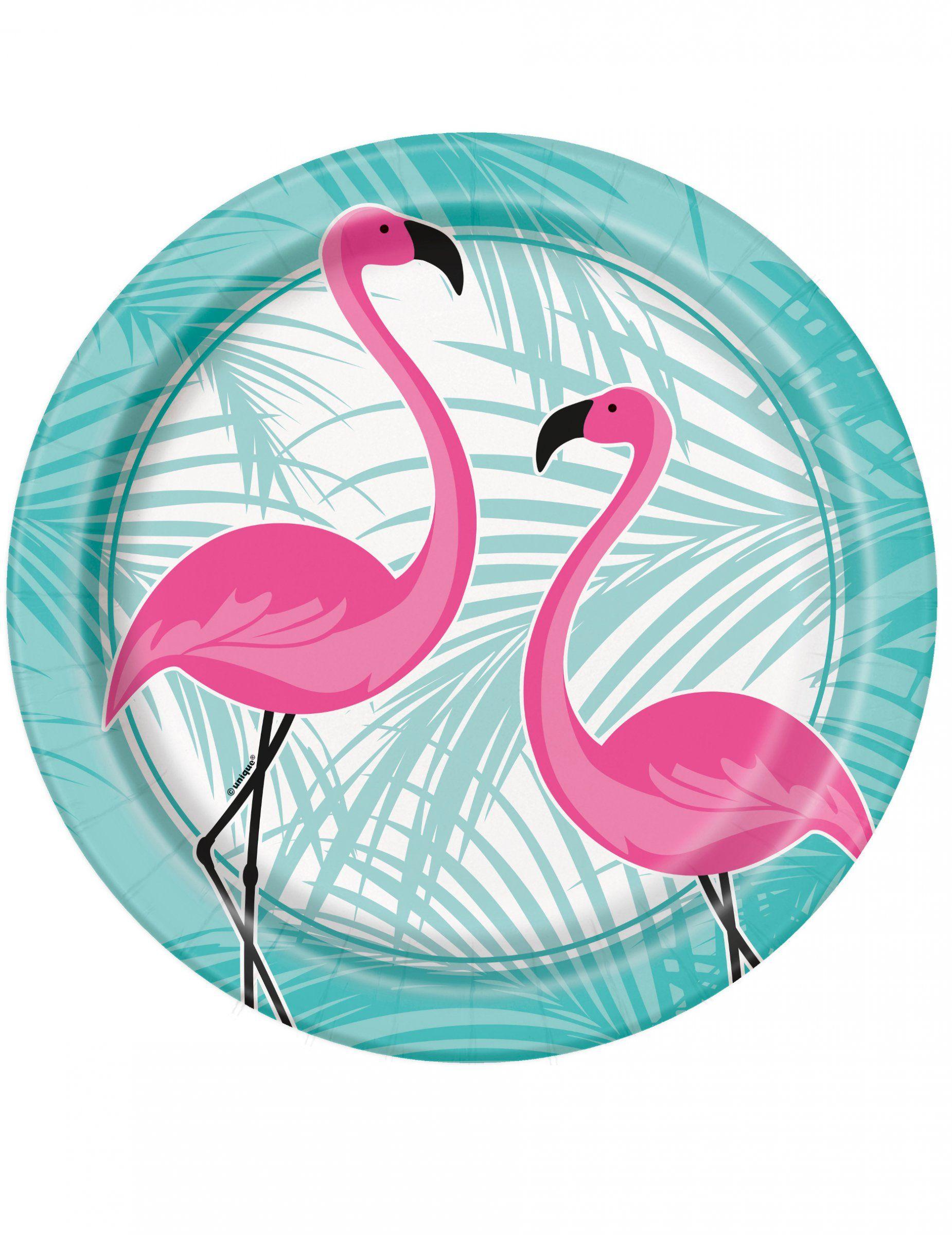 8 piatti in cartone fenicottero rosa 22 cm Pinterest