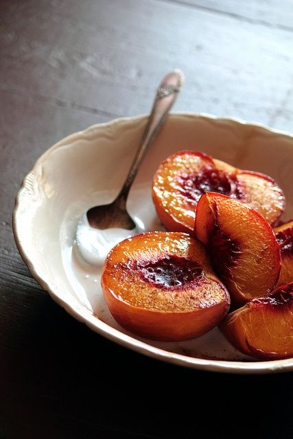 maple roasted peaches by pastry affair