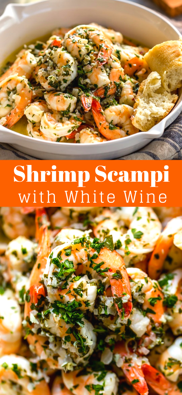 SHRIMP SCAMPI WITH WHITE WINE #shrimpscampi