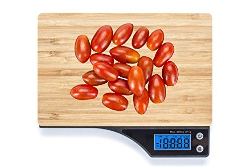 beautiful bamboo digital kitchen food scale with tare feature by wasserstein click for