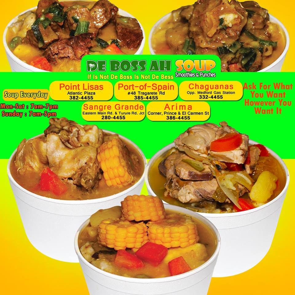 Pin di de boss ah soup trinidad and tobago su boss soups for Trinidad fish broth