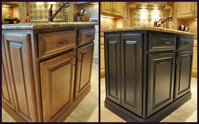 I Love Black Cabinets This Would Look Great In Our Kitchen What