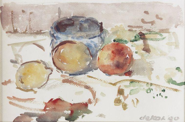 Otto B. de Kat - Stilleven met vruchten