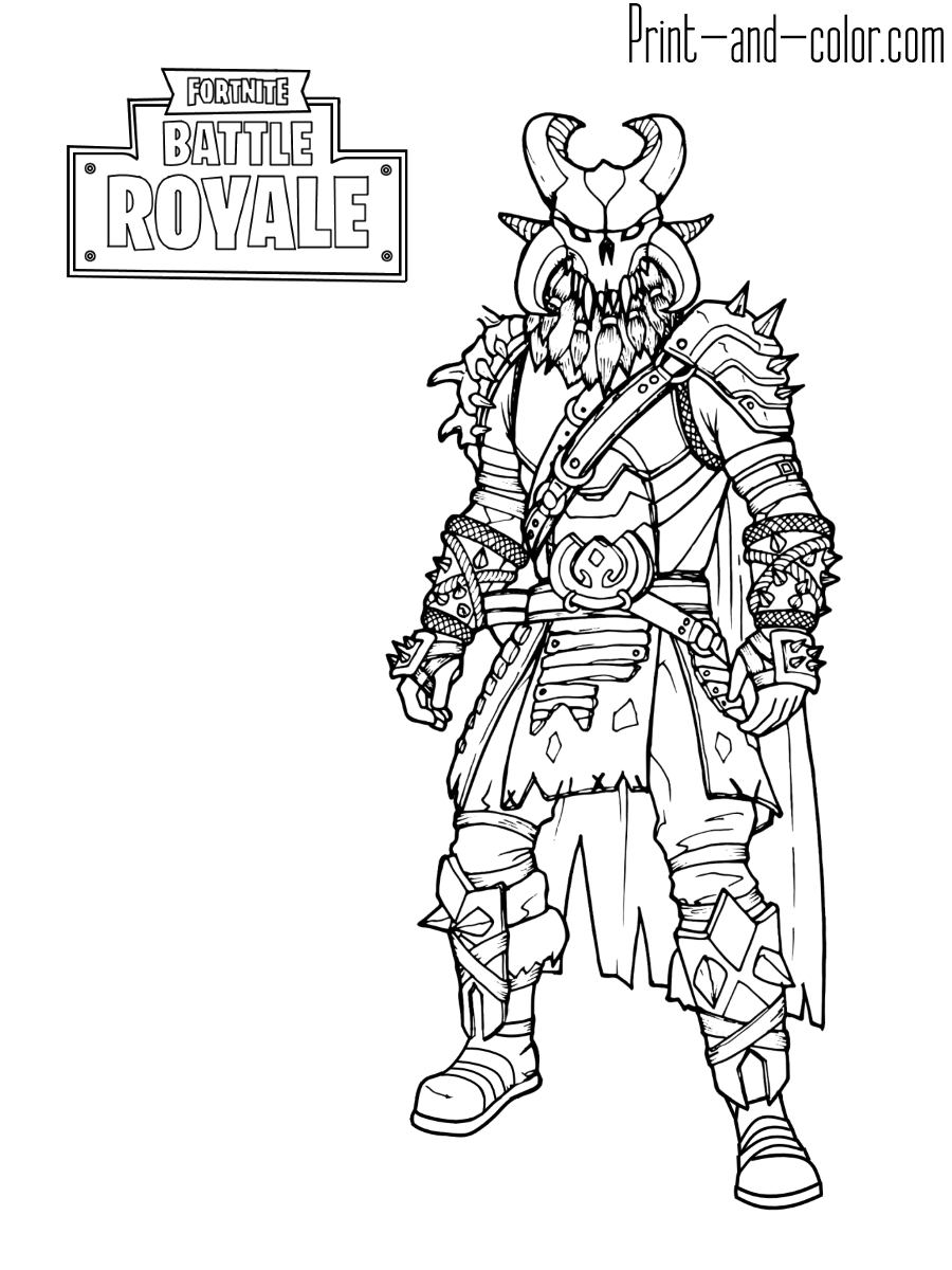 Fortnite Battle Royale Coloring Page Ragnarok Max Level Coloring Pages Cool Coloring Pages Coloring Book Pages