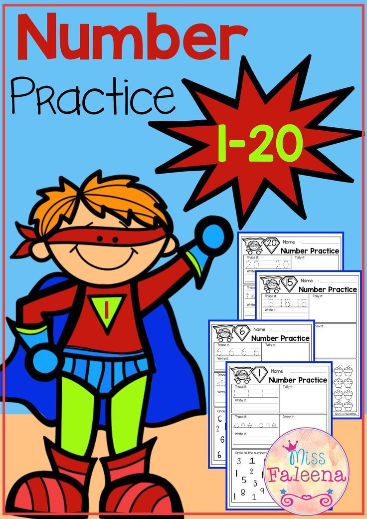 Number 1-20 Practice (Set 1) | Kindergarten, Worksheets and Number