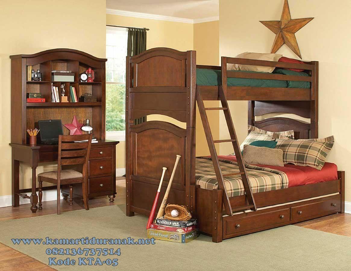 Jasa Pembuatan Set Tempat Tidur Tingkat Anak Laki Laki Klasik