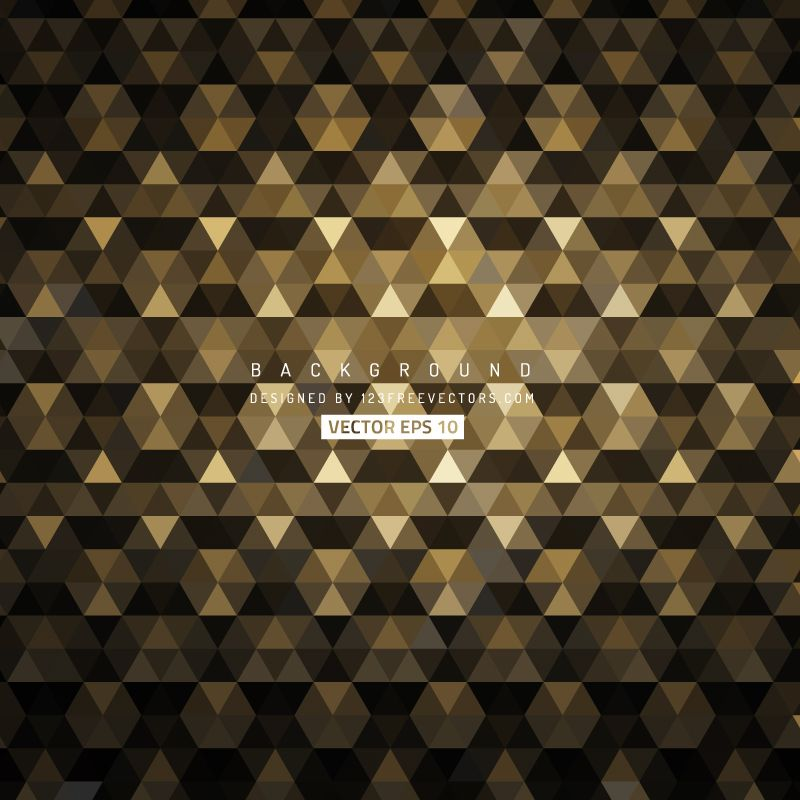 Black Gold Abstract Triangle Background Free