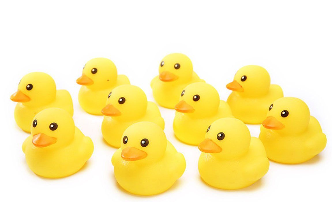 Victory Durable Safe Rubber Small Yellow Duck Dog Chew Toy Dogs