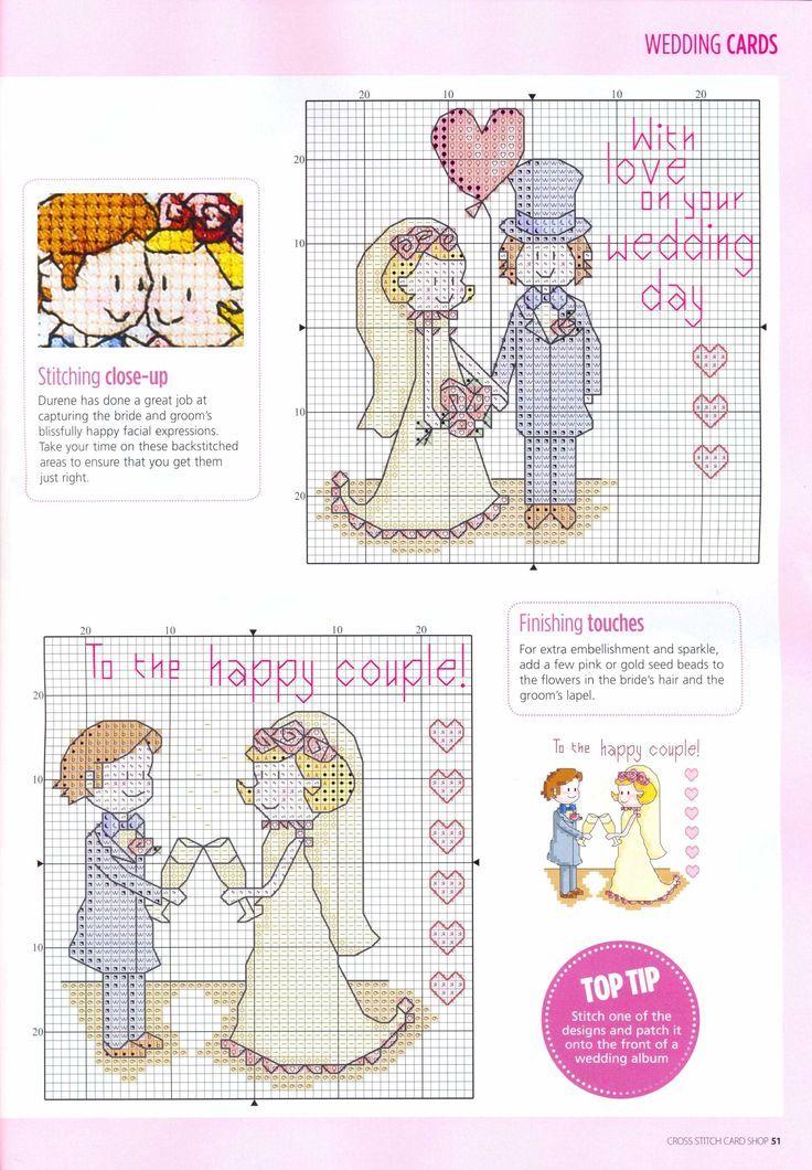 Схемы для вышивки крестом свадебная открытка