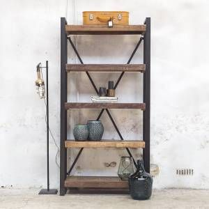 Boekenkast Open Industrieel Small | home Accessories and Decorations ...