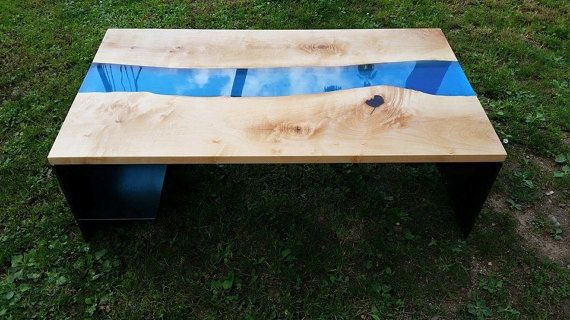 Modern Coffee table  Live edge coffee table  by PANwoodenproducts
