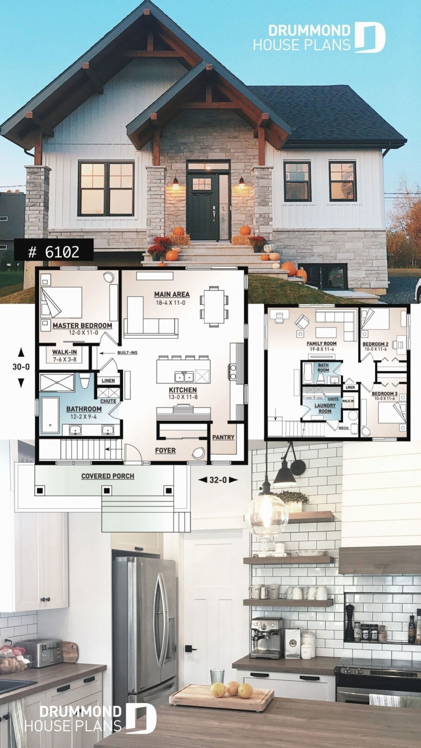 Ideal Modern Farmhouse Plan For Empty Nesters 2020 House Blueprints Ev Tasarim Planlari Ev Plani