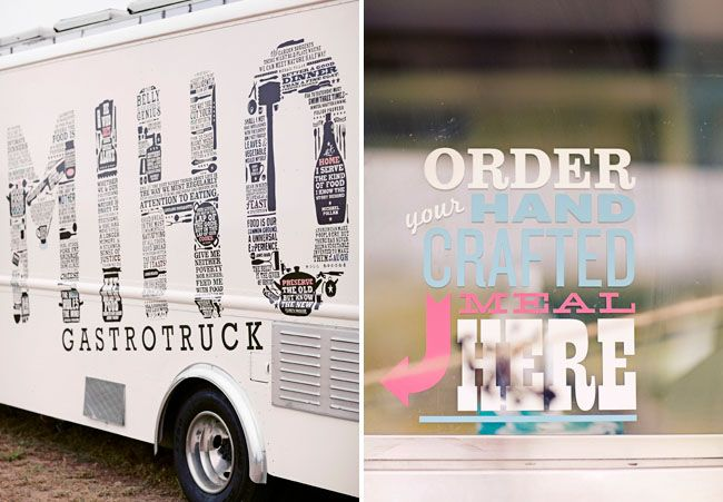 a food truck wedding styling design sitting in a tree