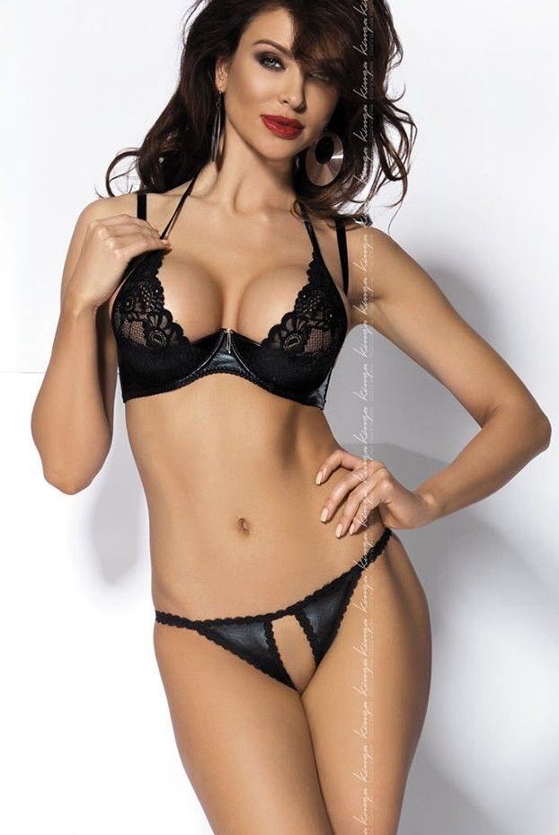 a9806d12607e Jade Faux Leather Bra Set | Monika Pietrasinska | Leather lingerie ...