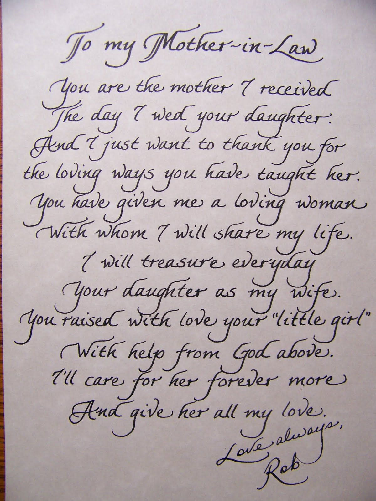 Wedding Gift For Dad And New Wife : poem to in laws on wedding day Wedding Pinterest Wedding ...